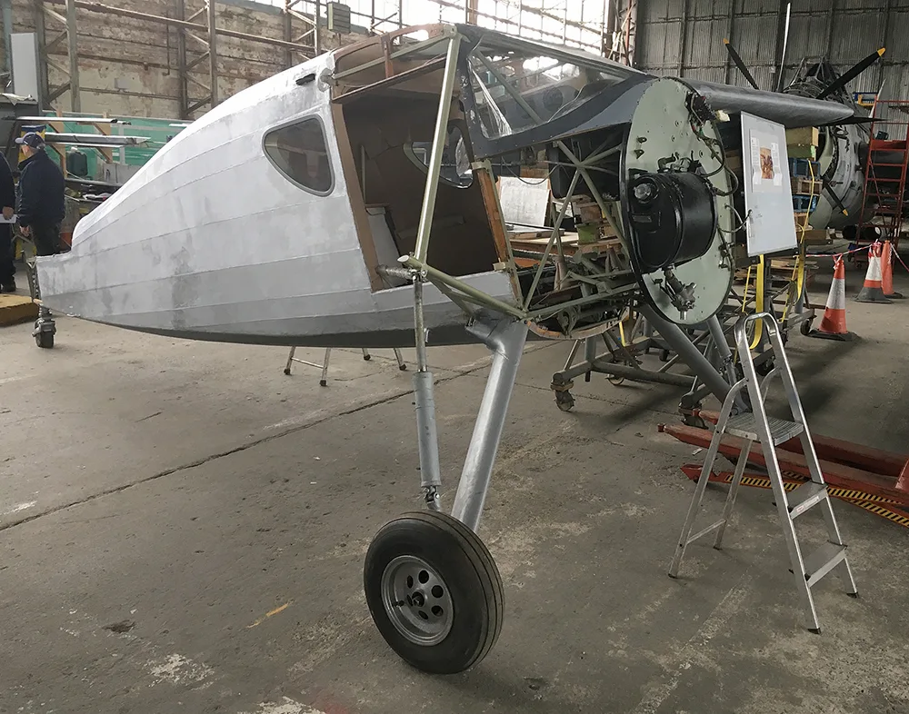 Fairchild Argus being restored in Oct 2017