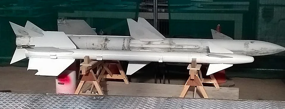 Some of the Phantom's ordnance including Skyflash and AIM-9 Sidewinder missiles (inert!) with the one on the left in final stages of paint removal. Just one of the many bits to be restored before we even thought of camouflage and markings