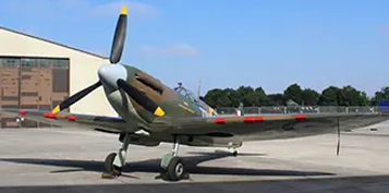 """Spitfire MK2a Replica """"DOWN"""" at the Ulster Aviation Society"""