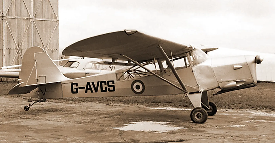 Taylorcraft Auster A.61 / Beagle Terrier 1 G-AVCS in its earlier flying days. Image: Dave Welch