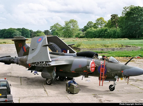 Blackburn Buccaneer XV361 out on the apron at Langford Lodge in the mid-1990s