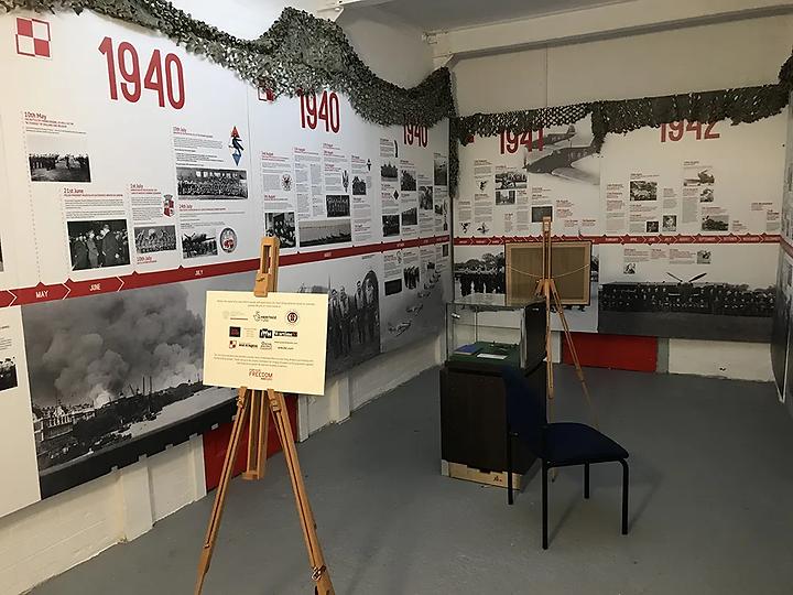 Polish Aircrew Room walls at the Ulster Aviation Society