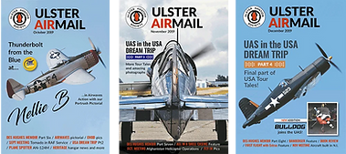 Magazine Covers from the Ulster Aviation Society's monthly colour AIRMAIL magazine