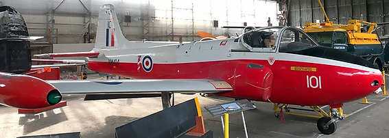 BAC Jet Provost T3A XM414 in the Ulster Aviation Society' Hangars