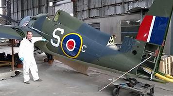 Grumman Wildcat FM-1 in the Ulster Aviation Society hangars