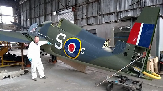 "Our in-house Aircraft Painter, Ian Hendry was proud as punch with the F4F Wildcat's ""882 squadron"" markings applied during August 2017, with JV482 now looking just as she did on that fateful Christmas Eve 1944. In memory of all 882 squadron personnel"