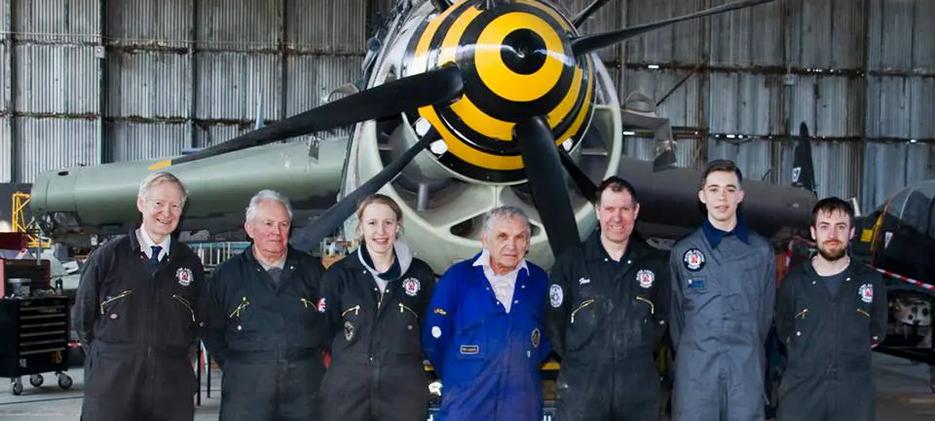 UAS Volunteer team who worked on the Fairey Gannet