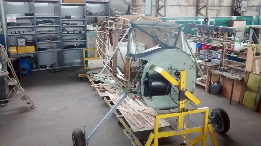 Fairchild Argus full restoration back to its original wood and metal frame at the UAS
