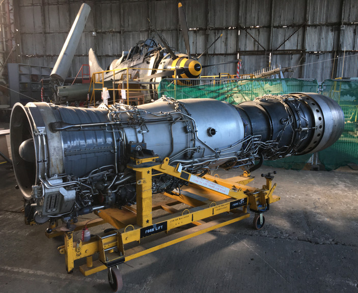 Rolls-Royce Spey turbofan that used to power an RAF Phantom jet fighter. Weighing in at over 4,000 lb and producing over 20,500 lbf with the reheat (afterburner). Image: Mark J. Cairns