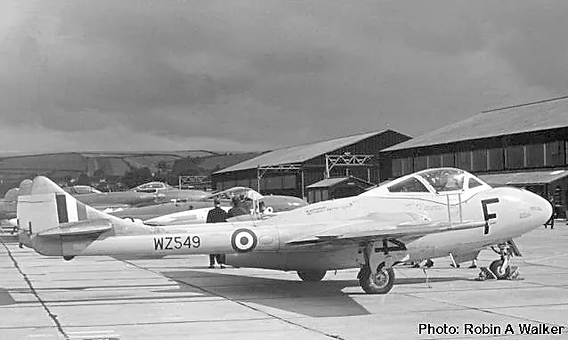 deHavilland Vampire T.11 at Chivenor