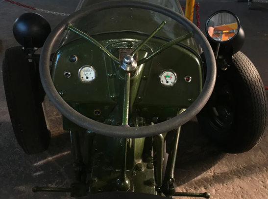 On board the Ferguson TEA-20 Tractor at the Ulster Aviation Society