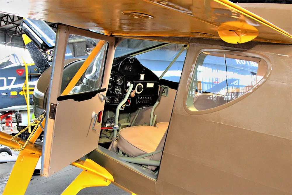 Fairchild Argus Restored Cockpit at the Ulster Aviation Society