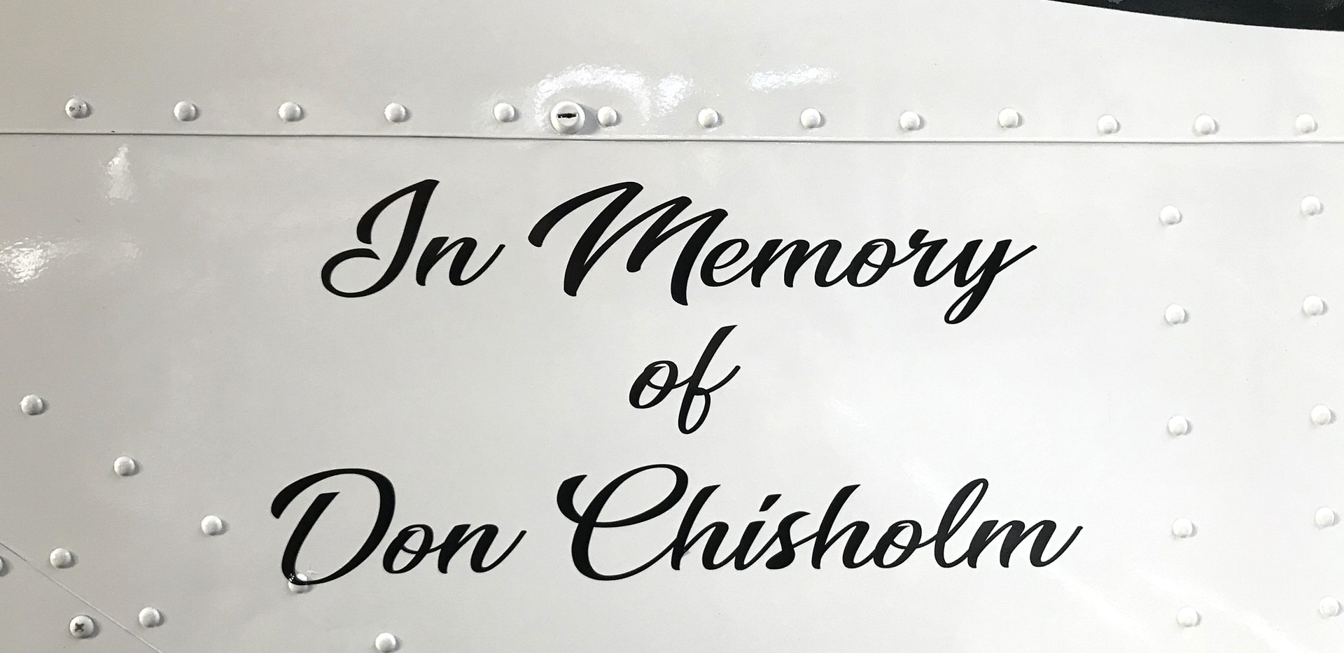 Aerosport Scamp In Memory of its owner, Don Chisholm