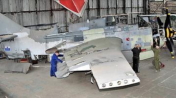 "Fairey Gannet ECM.6 / AS.4 ""XA460"" in the Ulster Aviation Society hangar"