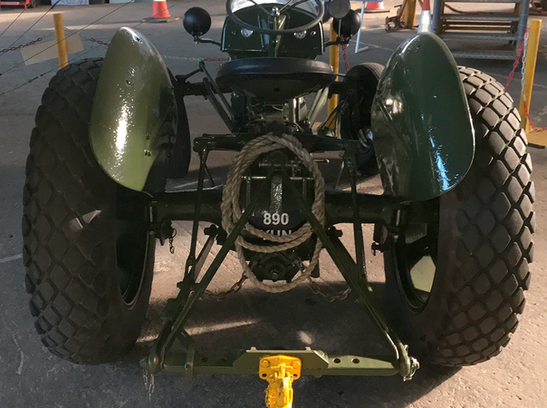 The business end of the Ferguson TEA-20 tractor at the Ulster Aviation Society