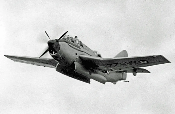 Fairey Gannet T.2 XA522 demonstrating at Farnborough in Oct 1955