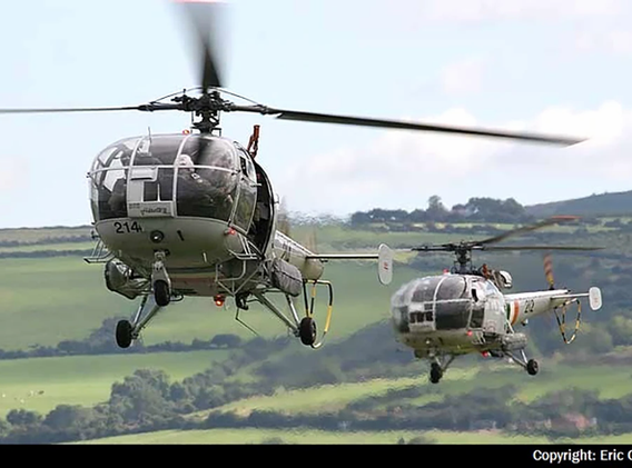 Alouette Helicopters 214 and 212 of the Irish Air Corps