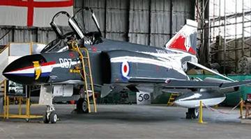 "The famous Phantom FG.1 ""007"" at the Ulster Aviation Society"