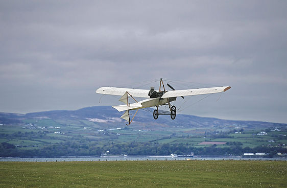 "Ferguson Flyer 1911 Replica, taking off during filming of the BBC documentary series ""The Great Flying Challenge"""