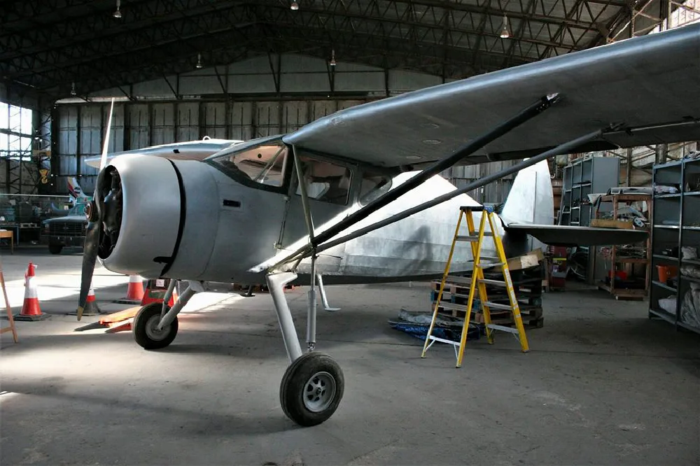 Fairchild Argus being restored during Winter 2018 at the UAS