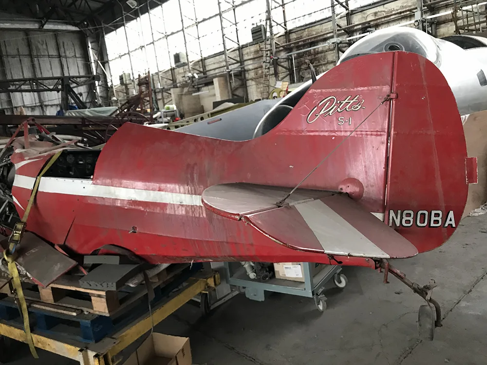Pitts S1A Special wreck is a future restoration project for the UAS
