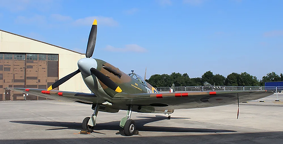 """The Spitfire Mk2A Replica """"Down"""" owned by the Ulster Aviation Society, on display at RIAT 2018, our first trip with one of our aircraft outside Ireland"""