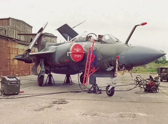 Blackburn Buccaneer XV361 after retirement to Langford Lodge with the Ulster Aviation Society's first home