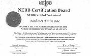 Mehmet Emin Bac NEBB TAB CP Certificate