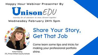 UnisonEdu Webinar: Share Your Story, Get That Job