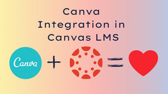 Canva Integration in Canvas LMS
