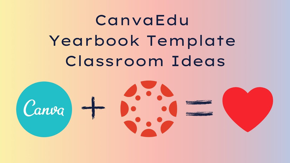 Canva Yearbook Template Classroom Uses