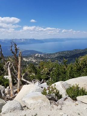 Looking out over Lake Tahoe