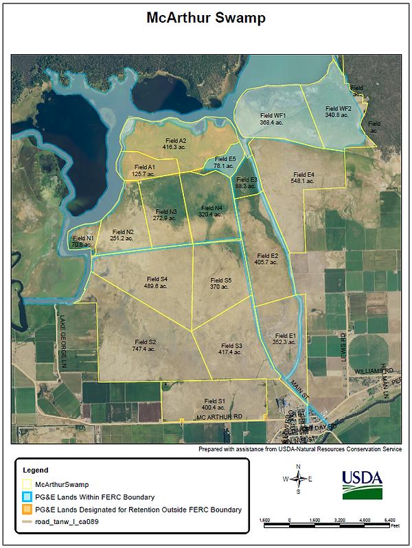 McArthur swamp boundary map