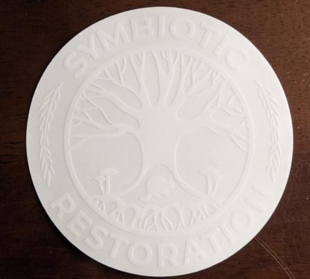 White Clear Sticker 5x5