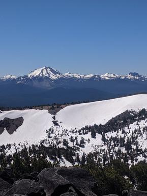 View of Mt. Lassen from McGee Peak