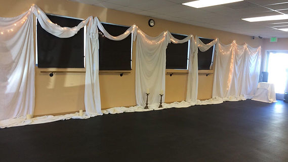 Studio ready for yoga
