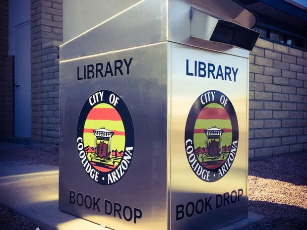 Coolidge Public Library AZ bookdrop