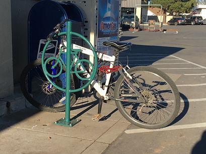 Bike rack installed at Burney Safeway