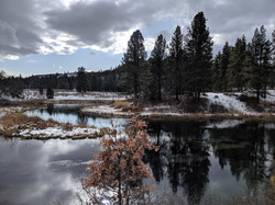 Hat Creek in the snow