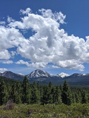 View of Mt. Lassen in summer