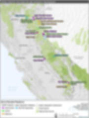 Map of Meadows in the Sierra