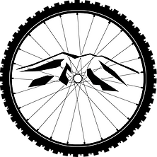 Burney Mountain circumscribed by a bicycle wheel