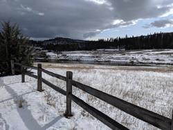 Hat Creek Trail in the snow