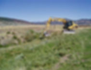 Excavator starts removing soil in Dutch Flat Creek