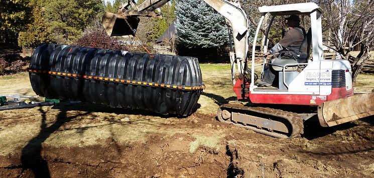 Septic tank and leach field installtion
