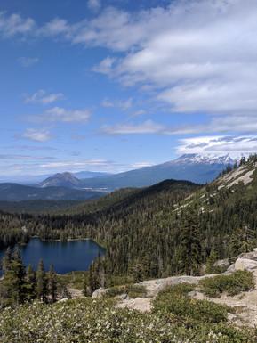 View of Castle Lake near Mt. Shasta