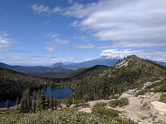 Views of Mt. Shasta from Heart Lake