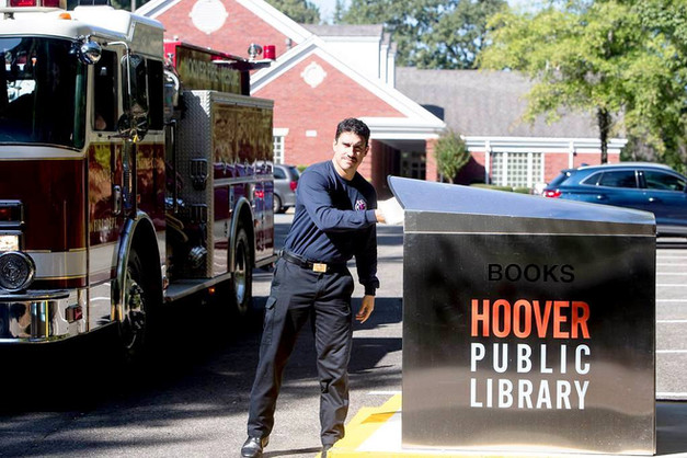 Hoover public library book drop