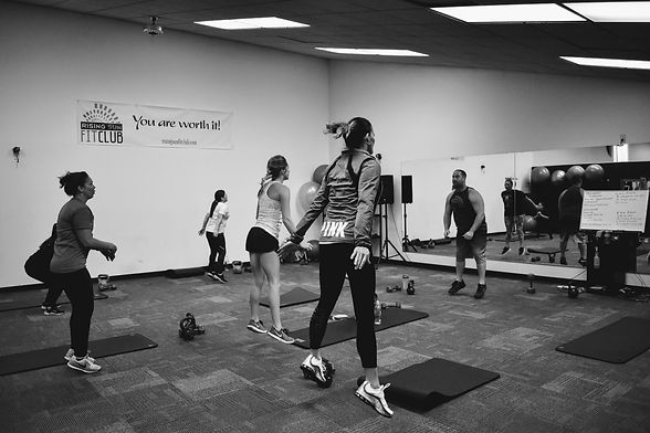 a HIIT class at Rising Sun Fit Club