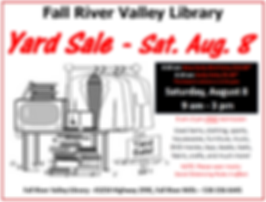 Yard Sale Aug 8